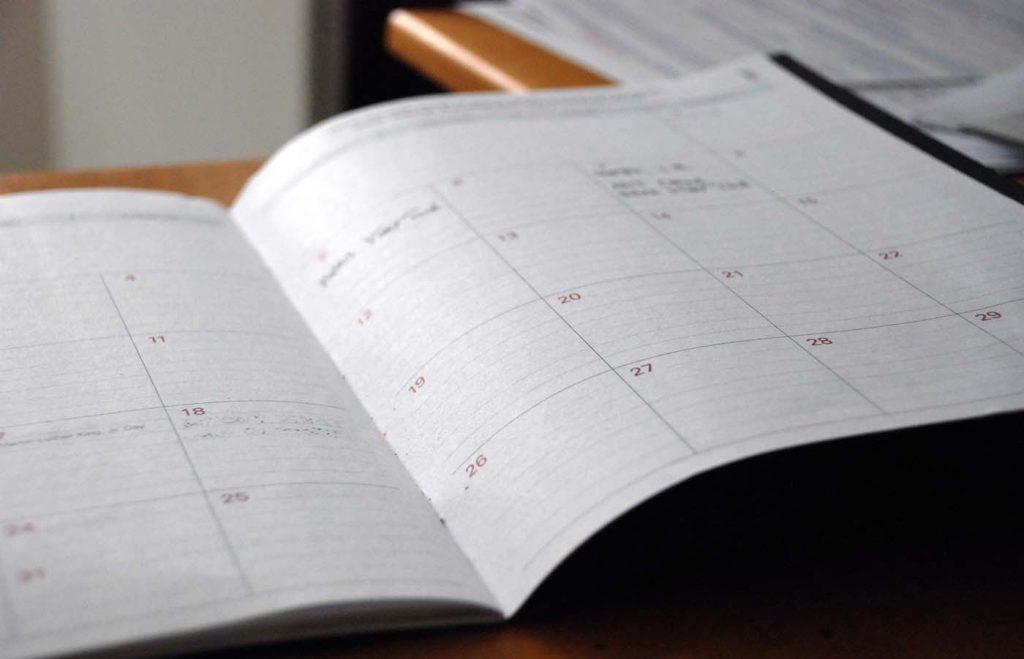 Open Monthly schedule