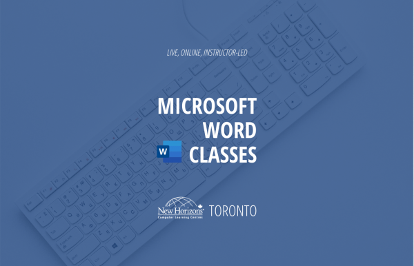 Keyboard lying on table - Live, online, instructor-LED, Microsoft word classes