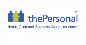 The Personal home, auto and business group insurance company logo