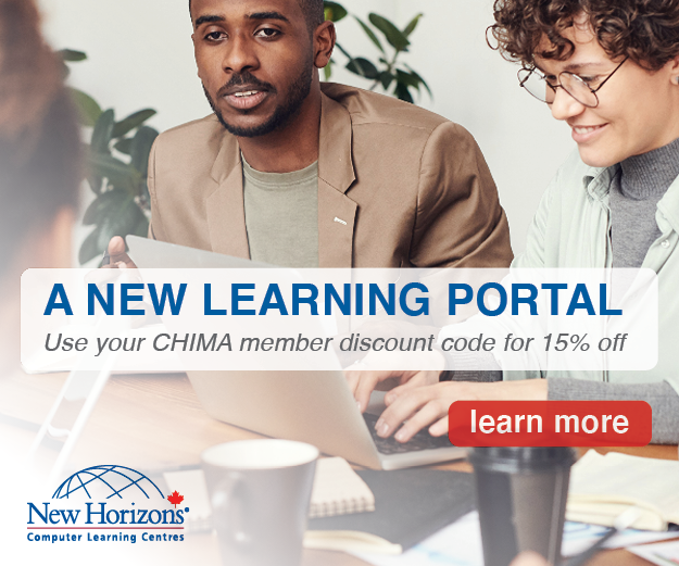 A new learning portal. Use your CHIMA membership discount code for 15% off. Learn more.