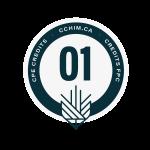 Graphic displaying 1 CPE credit through cchim.ca