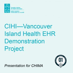 Product card for CIHI and vancouver island health demonstration project