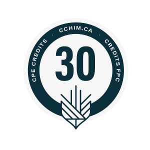 30 CPE credits with the Canadian College of Health Information Management