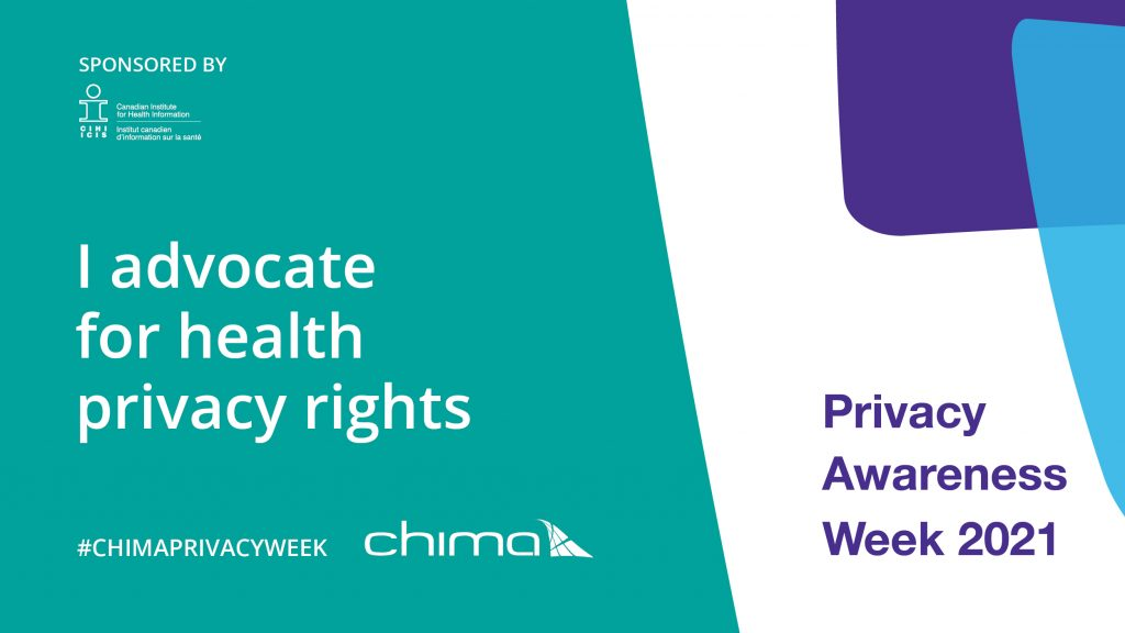 CHIMA I advocate for health privacy rights banner