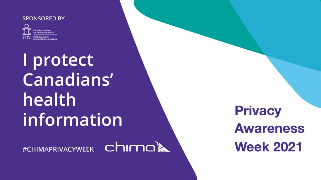 CHIMA I protect Canadians health information banner