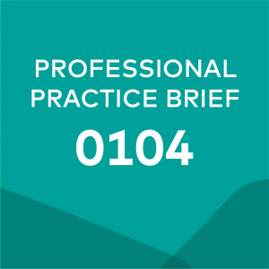 Product card for professional practice brief 0104