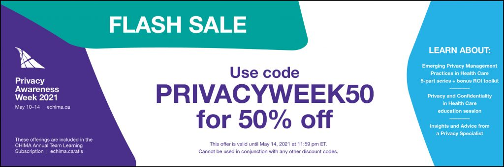 Banner announcing a flash sale for privacy awareness week