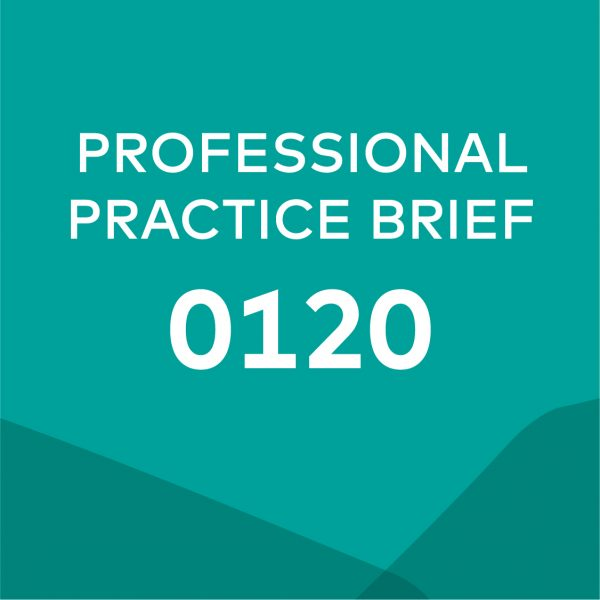 Product card for professional practice brief 0120