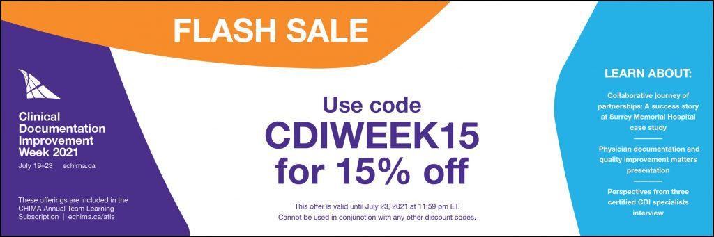 CDI WEEK 2021 flash sale website banner