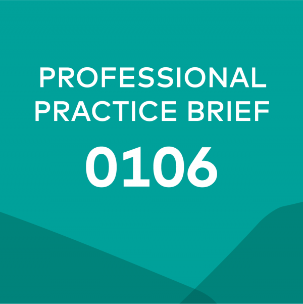 Product card image for professional practice brief 0106